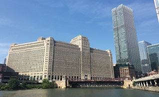 The art-deco Merchandise Mart building