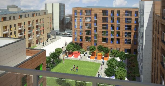 Atlas Residential first UK scheme Bow Square in Southampton