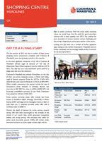 Cushman and Wakefield UK shopping centre investment - Q1 2013
