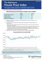 Rightmove House Price Index - March 2013 - NATIONAL