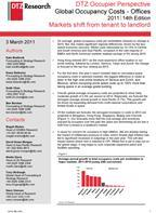 DTZ Occupier Perspective: Global Occupancy Costs - Offices 2011