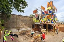 New movement: pop-up MVMNT cafe in Greenwich was built from shipping containers to serve London 2012 Olympic Games visitors