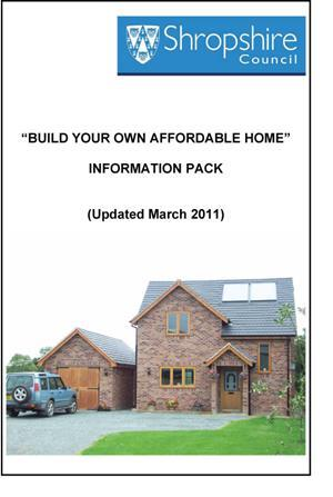 Shropshire council build your own affordable home for Build your own home website